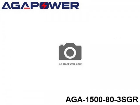 13 AGA-Power 80C Graphene Battery Packs AGA-1500-80-3SGR Part No. 88007