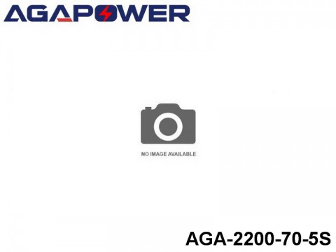 155 AGA-Power-70C RC Heli and Plane Lipo Packs 70 AGA-2200-70-5S 18.5 5S1P