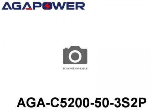 122 AGA-Power-50C RC Cars Lipo Packs 50 AGA-C5200-50-3S2P 11.1 3S1P