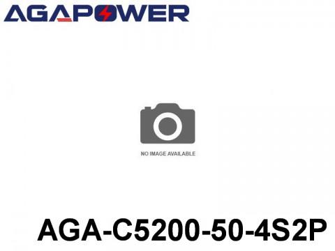 123 AGA-Power-50C RC Cars Lipo Packs 50 AGA-C5200-50-4S2P 14.8 4S1P