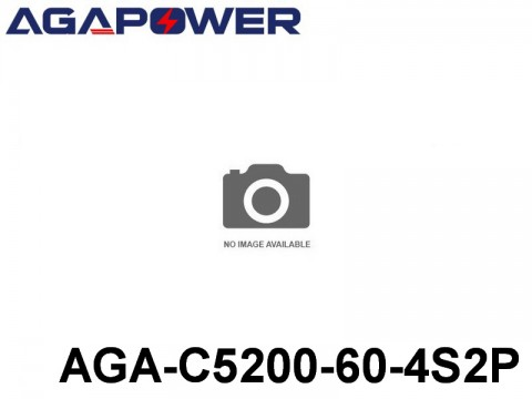 116 AGA-Power-60C RC Cars Lipo Packs 60 AGA-C5200-60-4S2P 14.8 4S1P