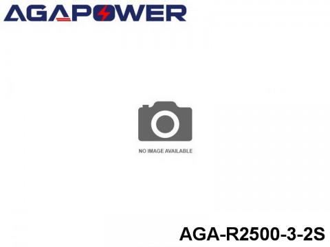 295 AGA-Power 3C RX and TX Lipo Battery Packs AGA-R2500-3-2S Part No. 80301