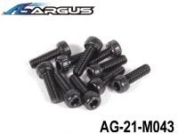 ARGUS 21RTR-PULL START Part 26 AG-21-M043 Pull Start Backplate Cover M2.6 x 8mm Screws (4pcs) (1 set) ARGUS-AG21-M043