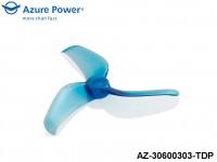 Azure Power AZ-30600303-TDP 3.0 6.0 (PC) 3 Blade Jewelry Blue