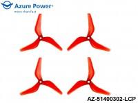 Azure Power AZ-51400302-LCP 5.1 4.0 (PC) 3 Blade Red