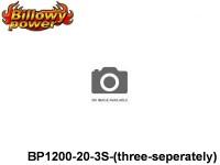 322 BILLOWY-Power X5-20C Lipo Packs Series: 20 BP1200-20-3S-(three-seperately) 11.1 3S1P