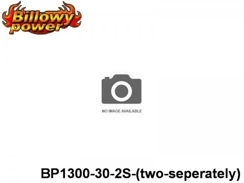 309 BILLOWY-Power X5-30C Lipo Packs Series: 30 BP1300-30-2S-(two-seperately) 7.4 2S1P