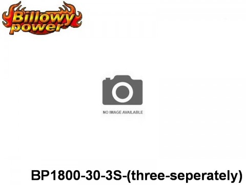 314 BILLOWY-Power X5-30C Lipo Packs Series: 30 BP1800-30-3S-(three-seperately) 11.1 3S1P