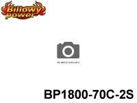 1 BILLOWY-Power X5-70C Lipo Packs Series: 70 BP1800-70C-2S 7.4 2S1P