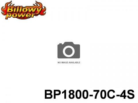 3 BILLOWY-Power X5-70C Lipo Packs Series: 70 BP1800-70C-4S 14.8 4S1P