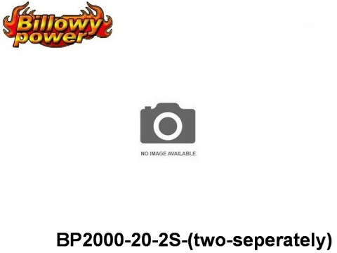 329 BILLOWY-Power X5-20C Lipo Packs Series: 20 BP2000-20-2S-(two-seperately) 7.4 2S1P