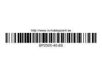375 BILLOWY-Power X5-40C Lipo Packs Series: 40 BP2500-40-6S 22.2 6S1P