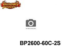 41 BILLOWY-Power X5-60C Lipo Packs Series: 60 BP2600-60C-2S 7.4 2S1P