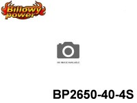104 BILLOWY-Power X5-40C Lipo Packs Series: 40 BP2650-40-4S 14.8 4S1P