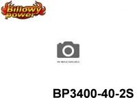 107 BILLOWY-Power X5-40C Lipo Packs Series: 40 BP3400-40-2S 7.4 2S1P