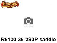 281 BILLOWY-Power X5-35C Lipo Packs Series RC-Cars: 35 BPCAR5100-35-2S3P-saddle 7.4 2S1P