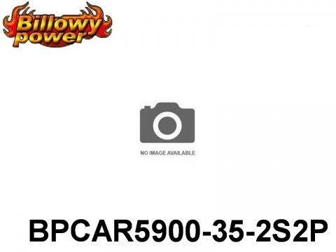280 BILLOWY-Power X5-35C Lipo Packs Series RC-Cars: 35 BPCAR5900-35-2S2P 7.4 2S1P