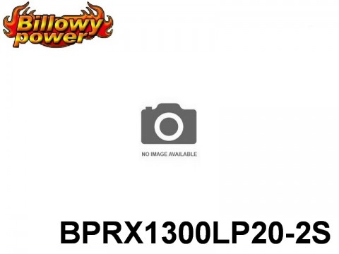 287 BILLOWY-Power Receiver Lipo Packs 20 BPRX1300LP20-2S 7.4 2S1P