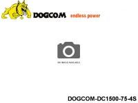 127 RC FPV Racer Regular Lipo Battery Packs DOGCOM-DC1500-75-4S 14.8 4S