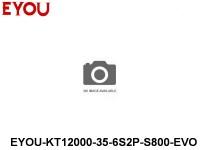 EYOU-Batteries 35C lipo battery packs EYOU-KT12000-35-6S2P-S800-EVO