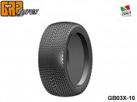 GRP-Tyres GB03X 1:8 BU - CUBIC - X ExtraSoft - Closed Cell Insert - Donut + Insert (1-Pair) 10-pack UPC: 802032725520 EAN: 8020327255206