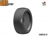 GRP-Tyres GB03X 1:8 BU - CUBIC - X ExtraSoft - Closed Cell Insert - Donut + Insert (1-Pair) 5-pack UPC: 802032725520 EAN: 8020327255206