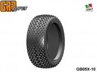 GRP-Tyres GB05X 1:8 BU - ATOMIC - X ExtraSoft - Closed Cell Insert - Donut + Insert (1-Pair) 10-pack UPC: 802032725522 EAN: 8020327255220
