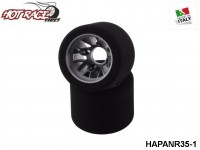 Hot-Race-Tyres HAPANR35-1 Pair of Rear Tyres PanCar 1-10 Shore 35 1-Pack