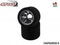 Hot-Race-Tyres HAPANR35-5 Pair of Rear Tyres PanCar 1-10 Shore 35 5-Pack