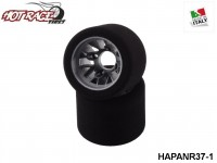 Hot-Race-Tyres HAPANR37-1 Pair of Rear Tyres PanCar 1-10 Shore 37 1-Pack