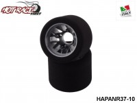 Hot-Race-Tyres HAPANR37-10 Pair of Rear Tyres PanCar 1-10 Shore 37 10-Pack