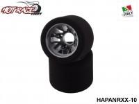 Hot-Race-Tyres HAPANRXX-10 Pair of Rear Tyres PanCar 1-10 10-Pack
