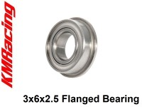 KM Racing Bearing 3x6x2.5 Flanged Bearing ( 1 Pcs )