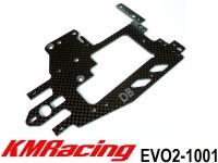 KM Racing EVO2-1001 EVO2 2mm Carbon Front Swing Upper Deck (Short Version) ( 1 Pcs )