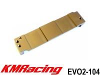KM Racing EVO2-104 EVO2 Alum. Side Battery Holder ( 1 Pcs )