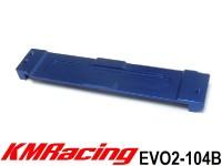 KM Racing EVO2-104B EVO2 Alum. Battery Holder (Blue) ( 1 Pcs )