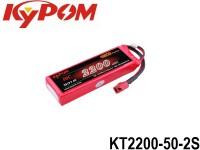 KYPOM-Power 1 - KT2200-50-2S mAh2200 7.4V 2S1P 18mm 34mm 103mm 133 gram 50C(110.0A) 100C(220.0A)