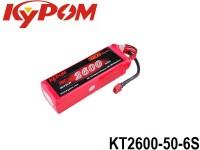 KYPOM-Power 10 - KT2600-50-6S mAh2600 22.2V 6S1P 33mm 46mm 135mm 425 gram 50C(130.0A) 100C(260.0A)