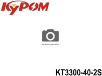 KYPOM-Power 100 - KT3300-40-2S mAh3300 7.4V 2S1P 14mm 43.5mm 133mm 190 gram 40C(132.0A) 80C(264.0A)
