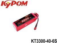 KYPOM-Power 104 - KT3300-40-6S mAh3300 22.2V 6S1P 40mm 44mm 135mm 518 gram 40C(132.0A) 80C(264.0A)