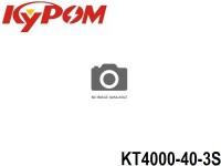 KYPOM-Power 106 - KT4000-40-3S mAh4000 11.1V 3S1P 25mm 44mm 133mm 310 gram 40C(160.0A) 80C(320.0A)