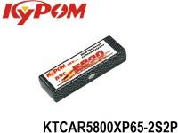 KYPOM-Power 1 - KTCAR5800XP65-2S2P mAh5800 7.4V 2S1P 25mm 46.5mm 138mm 336 gram 65C(377.0A) 130C(754.0A)