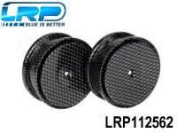 LRP-112562 Dish Wheels Carbon-look,2pcs.-S18 RMT-NM LRP112562