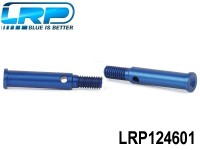 LRP-124601 Aluminium Front Hub Carrier Axle Blue 2pcs Twist LRP124601