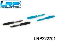 LRP-222701 Spare rotors 4 pieces, 2x Black, 2x Blue - H4 Gravit Micro 2.4 Ghz Quadrocopter LRP222701