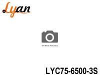 LYAN LiPo Car -257 LYC75-6500-3S 11.1V 6500mAh 486g 39mm 47mm 138mm 75C (487.5A ) 150C (975A )