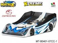 Matrix Racing Tires MT-B0401-07CC-1 1:8 Cut R18 Flat Ultra Light CAPRICORN Clear
