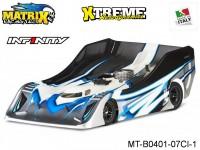 Matrix Racing Tires MT-B0401-07CI-1 1:8 Cut R18 Flat Ultra Light INFINITY Clear