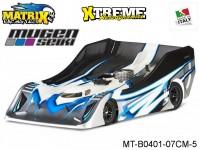 Matrix Racing Tires MT-B0401-07CM-5 1:8 Cut R18 Flat Ultra Light MUGEN Clear