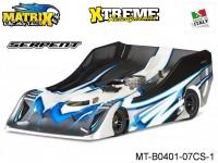 Matrix Racing Tires MT-B0401-07CS-1 1:8 Cut R18 Flat Ultra Light SERPENT Clear